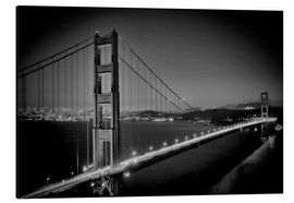 Aluminium print  Golden Gate Bridge in the Evening - Melanie Viola