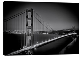 Canvas  Golden Gate Bridge in the Evening - Melanie Viola