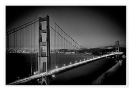 Premium poster Golden Gate Bridge in the Evening