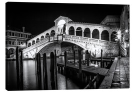 Canvas print  VENICE Rialto Bbridge at Night - Melanie Viola