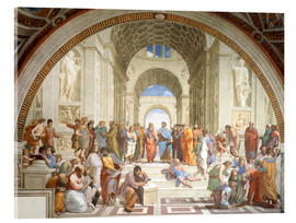 Acrylic glass  The School of Athens - Raffael