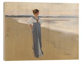 Wood print  On the sands - William Henry Margetson