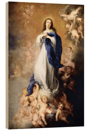 Wood  Immaculate Conception of Mary - Bartolome Esteban Murillo