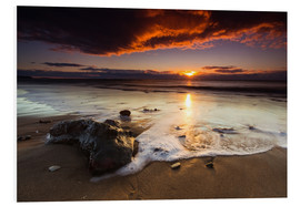 Foam board print  New Zealand Sunrise # 2 - Sebastian Warneke