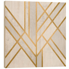 Wood print  Art deco geometry - Elisabeth Fredriksson