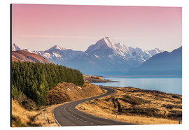 Aluminium print  Road to Aoraki, New Zealand - Matteo Colombo