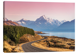 Canvas print  Road to Aoraki, New Zealand - Matteo Colombo