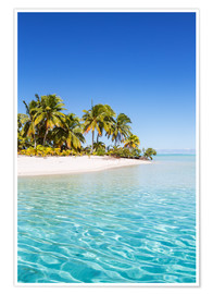 Premium poster Turquoise waves, One Foot Island
