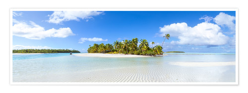 Premium poster One Foot Island, Cook Islands
