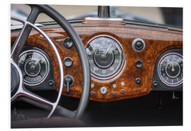 Foam board print  Cockpit of Classic Car - Christian Müringer