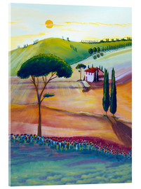 Acrylic glass  Tuscany is beautiful - Christine Huwer