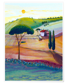 Premium poster Tuscany is beautiful