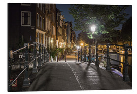Aluminium print  One night in Amsterdam - Scott McQuaide