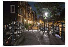Canvas print  One night in Amsterdam - Scott McQuaide