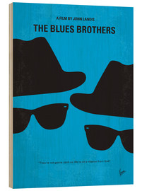 Wood print  The Blues Brothers - chungkong
