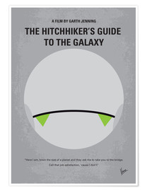 Premium poster No035 My Hitchhiker Guide minimal movie poster