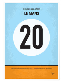 Premium poster No038 My Le Mans minimal movie poster