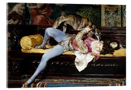 Acrylic glass  A Young Page, Playing with a Greyhound - Giovanni Boldini