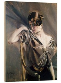Wood  Portrait of Cleo de Merode - Giovanni Boldini