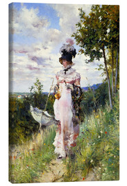 Canvas print  The Summer Stroll - Giovanni Boldini