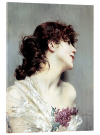 Giovanni Boldini - Profile of a young Woman