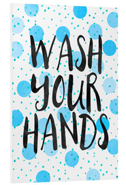 Foam board print  Wash Your Hands - Elisabeth Fredriksson
