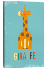 Canvas print  ABC giraffe - Petit Griffin