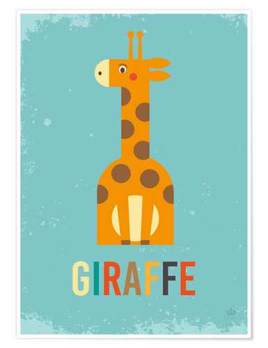 Poster Baby Giraffe for the nursery