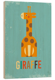 Wood  Baby Giraffe for the nursery - Petit Griffin