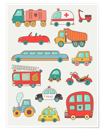 Poster So many cars for the nursery