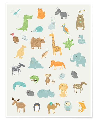 Premium poster All my zoo animals