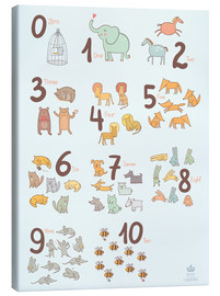 Canvas print  Animal numbers for the nursery - Petit Griffin