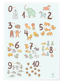 Premium poster Number of animals