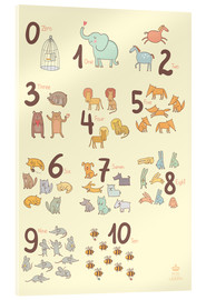 Acrylic glass  Zoological numbers for nursery - Petit Griffin
