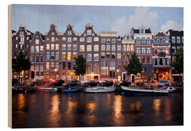 Wood print  Amsterdam Netherlands - Peter Schickert