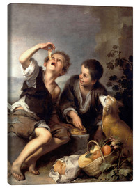 Canvas  The pie eaters - Bartolome Esteban Murillo