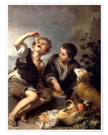 Premium poster  The pie eaters - Bartolome Esteban Murillo