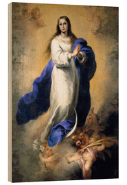 Wood print  The Immaculate Conception - Bartolome Esteban Murillo