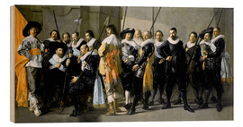 Wood print  Protect from the neighborhood XI under command of Captain Reynier Reae - Frans Hals