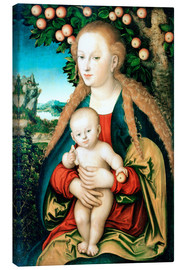 Canvas print  Madonna with child under the apple tree - Lucas Cranach d.Ä.