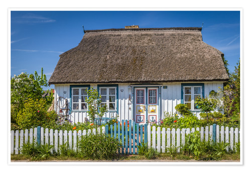 Premium poster Thatched cottage on the Baltic Sea