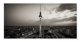 Poster  Berlin TV Tower (Black and White Photography) - Alexander Voss