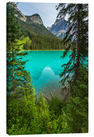 Canvas  Panoramic View the Emerald Lake in Canada - British Columbia - rclassen