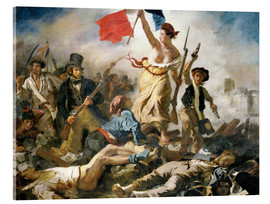 Acrylic glass  Liberty leading the people - Eugene Delacroix