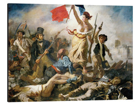 Alu-Dibond  Liberty leading the people - Eugene Delacroix
