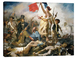 Canvas  Liberty leading the people - Eugene Delacroix