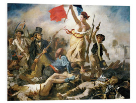 Foam board print  Liberty leading the people - Eugene Delacroix
