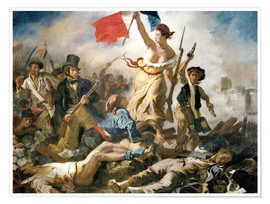 Premium poster  Liberty leading the people - Eugene Delacroix
