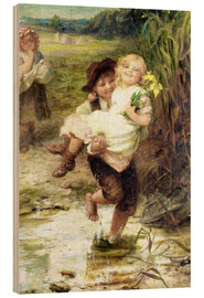 Wood print  The young gallant - Frederick Morgan