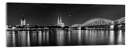 Acrylic glass  Cologne skyline panorama - rclassen